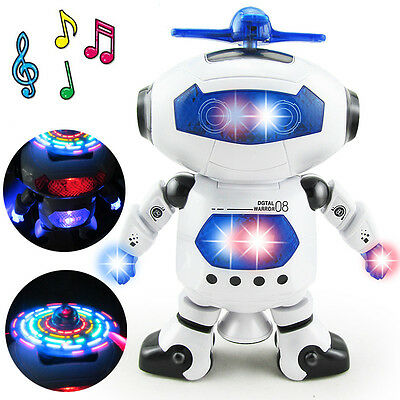 Dance Space  1 Pcs  Light  Electronic Smart  Child  Robot Music Toys Walking