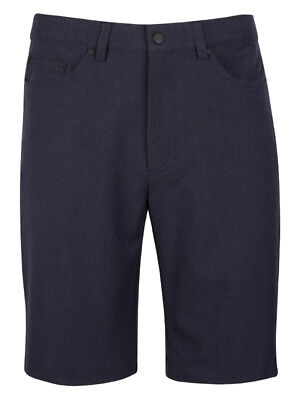Greg Norman 5-Pocket Heathered Short - Sonar Blue