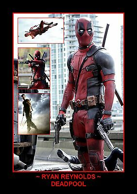 Dead Pool Ryan Reynolds Photo Collage Print Only or Framed