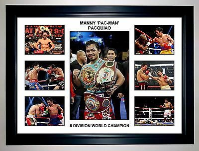 Manny Pacquiao Boxing Photo Collage Signed Print Or Framed