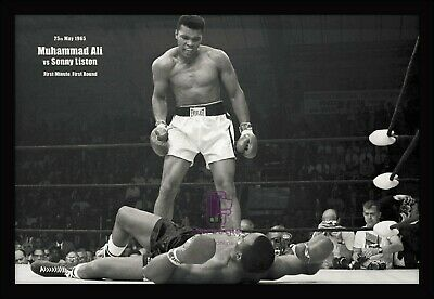 """MUHAMMAD ALI """"FLOAT LIKE BUTTERFLY""""OFFICIAL FAMOUS 24x36"""" Action Posters Framed"""