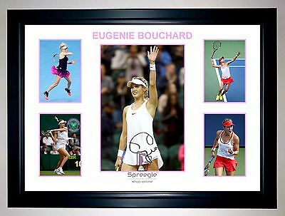 Eugenie Bouchard Womens Tennis Supermodel 5 Photo Collage Signed Print Or Framed