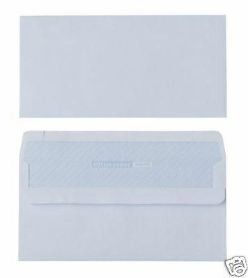 1000 x DL Plain White Business Envelopes 80gsm Self Seal 2016868 S7A