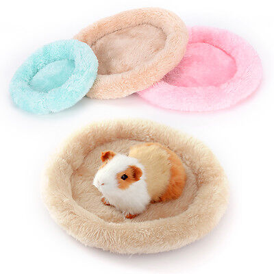 new soft fleece guinea pig bed winter small animal cage mat hamster sleeping Ab