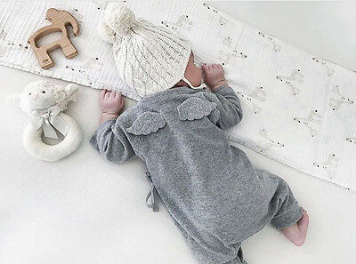 Unisex Baby Clothes 3D Wing Bodysuit Long Sleeve Rompers Toddler Jumpsuit Outfit