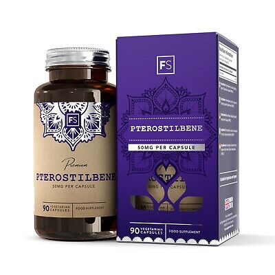 Pterostilbene | 50mg Capsules | 120/240/960  |  Powerful Antioxidant / Cognition