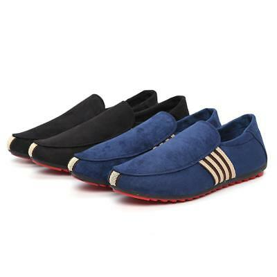 Summer Men's Canvas Breathable Slip On Sneakers Loafers Mens Casual Shoes BS