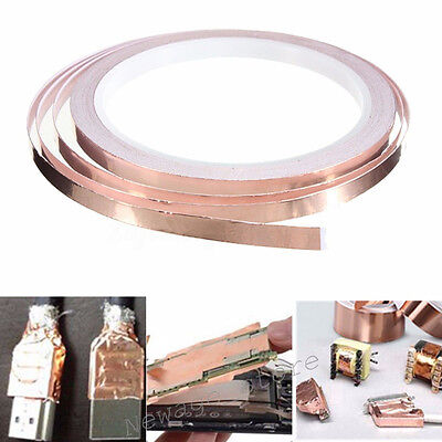 30M/Roll Self-adhesive Copper Foil Tape Conductive Heat Insulation EMI Shielding