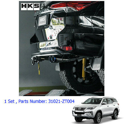 Performance Stainless Exhaust Pipe Twin Anodized Tip Fits Toyota Fortuner 15 17