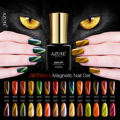 AZURE Magnetic Shining Color Nail Gel Soak Off UV Gel Polish Cat Eye Gel Lacquer
