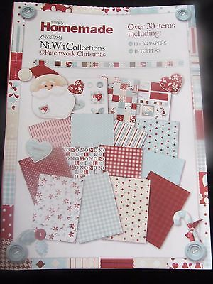 Nitwit Collections~A4 Xmas Patterned Paper Pack~13 Sheets~18 Toppers~Craft~Art~