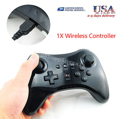 US Ship Wireless Bluetooth Remote U Pro Controller Gamepad for Nintendo Wii U