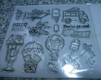 Clear Acrylic Stamp and Embossing Folder Set