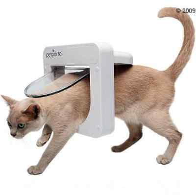 Cat Door Flap Microchip Plastic Safe Secure Chip Reader Quiet Pet Kitten Puppy