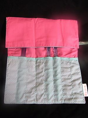 Roll Up Storage Bag~Knitting Needles~Crochet Hooks~8 Pockets~Needle Roll~