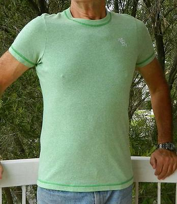 VINTAGE Abercrombie & Fitch Green Muscle Retro T-Shirt