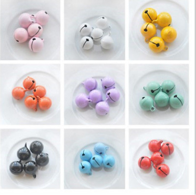 Hot 10pcs/50pcs Metal Small Jingle Bell for Gift Decoration Many style 14mm