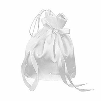 PIXNOR Pixnor Satin Money Bag Bridal Wedding Bag with Pearl