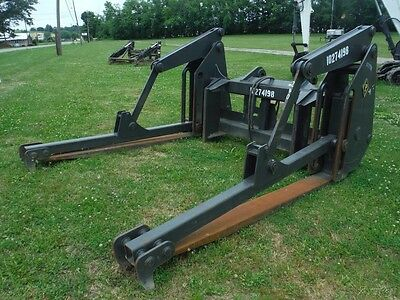 Pemberton Pipe And Pole Wheel Loader Forks W/ Clamps / Grapple! Fits Case 821E!