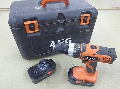 A.E.G. BSB 18G 18V Cordless Combi Drill AEG 2 x NiCAD Batteries Power Tool Used