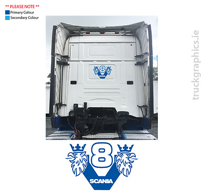 Scania Cab Rear Decal - Scania V8 with Griffin