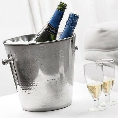 Champagne Wine Chiller Beverage Ice Bucket Cooler Stainless Steel  Party  NEW