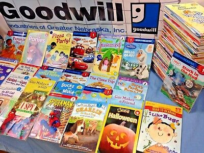RANDOM (LOT of 10) LEVEL 1 GRADE early readers learning phonics children books