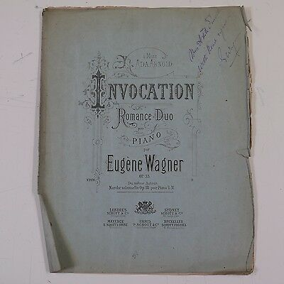 piano solo EUGENE WAGNER invocation op.33 , with signed dedication