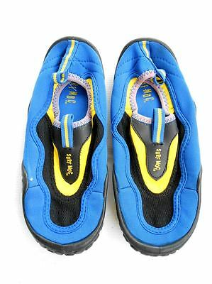 Surf Moc Youth Sz 2 Blue Yellow Black Water Proof Swim Shoes