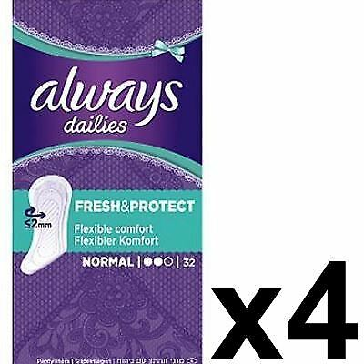 Always Dailies Panty Liners Normal Fresh & Protect Odour Neutralising - 128 Pack