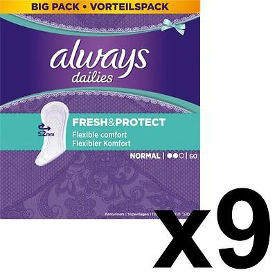 Always Dailies Panty Liners Normal Fresh & Protect Odour Neutralising - 540 Pack