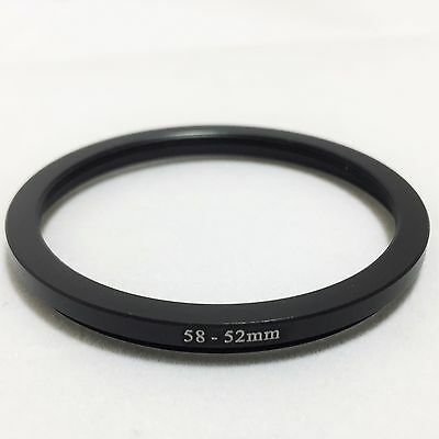 Filter and Lens Adapter Ring Step down 58mm - 52mm