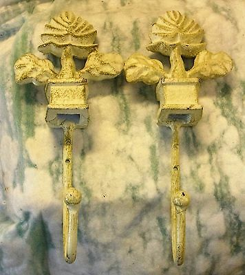 Vintage cast hooks/ornate tops
