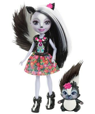 Mattel Enchantimals Doll Skunk girl Sage Skunk Play doll from 6 years