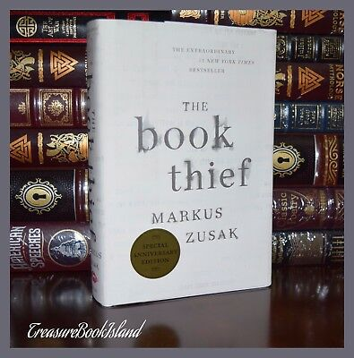 The Book Thief SIGNED by Markus Zusak Anniversary Edition New Hardcover 1st