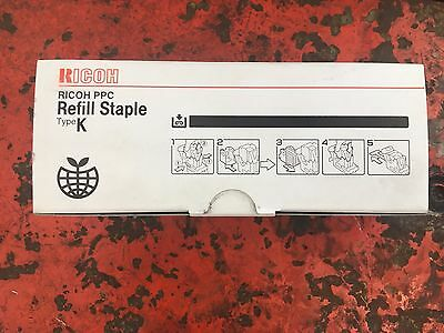Genuine Ricoh Staple Type K (3 cartridges x 5,000 Staples)