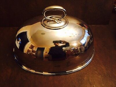 Thanksgiving: Silverplate Entree Cover Marked Engraved with 5 Marks