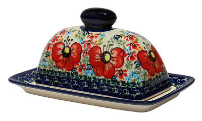 Polish Pottery Butter Dish from Zaklady Boleslawiec 1377-296ar