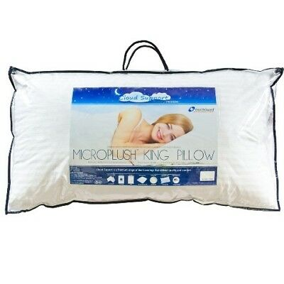 NEW Cloud Support Microplush King Pillow - Easy Rest,Pillows