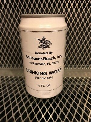 ANHEUSER BUSCH HURRICANE WATER ~ 1987 ~ Full Can 100% Proceeds Red Cross HARVEY