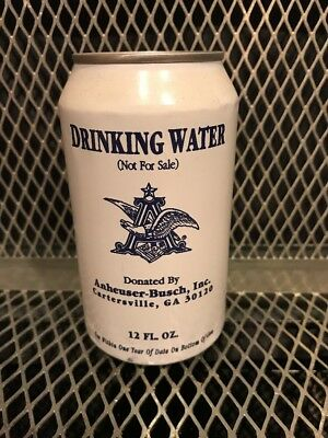 ANHEUSER BUSCH HURRICANE WATER ~ 2003 ~ Full Can 100% Proceeds Red Cross HARVEY