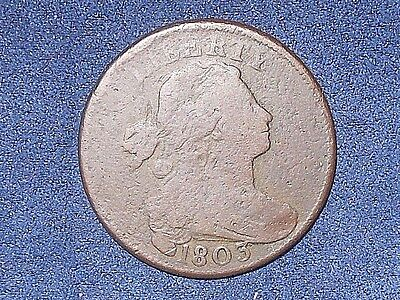 1803 1C S-261 Small Date Large Fraction BN Draped Bust Large Cent  - Error Coin