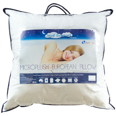 NEW Cloud Support Microplush Euro Pillow - Easy Rest,Pillows