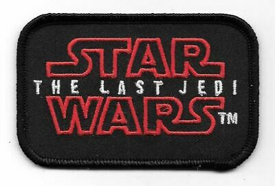 Star Wars Episode VIII: The Last Jedi Movie Name Logo Embroidered Patch NEW