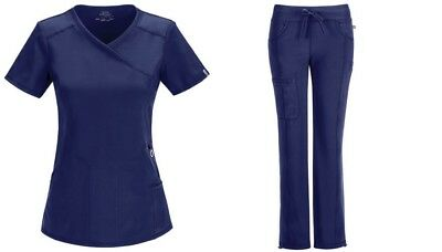 Cherokee Scrubs Infinity Antimicrobial Navy Sets Top 2625A Pant 1123A All Sizes