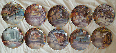 "The Danbury Mint 10 collector plates ""God Bless America"" artist Rudi Reichardt"