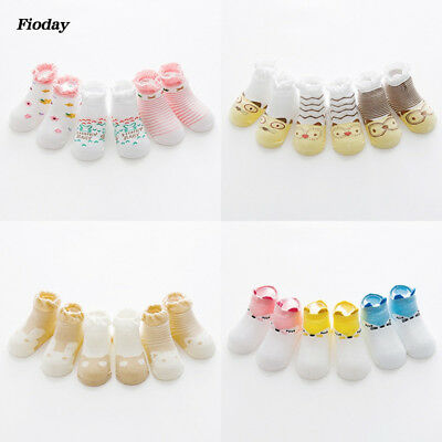 3 Pairs Lovely Flower Princess Cotton Socks Cute Baby Girls Short Socks Kid's