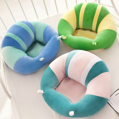 Cute Baby Support Seat Soft Chair Pillow Cushion Sofa For 0-2 Year Plush Toys hj
