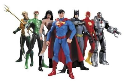 Justice league action figures 7pcs set superman wonderwomen flash batman