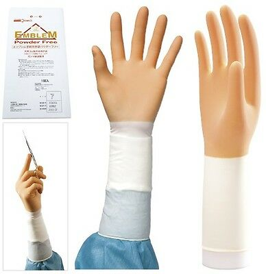 "20 pairs sterilized powder free surgical gloves ""Emblem"", 8 sizes, from Japan"
